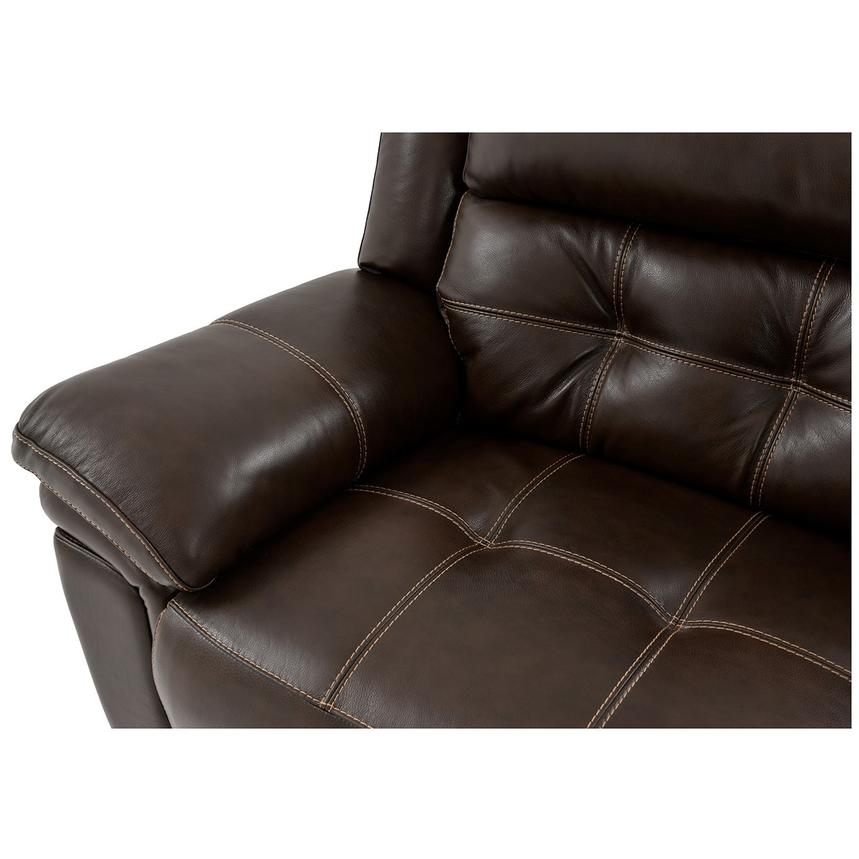 Stallion Brown Leather Power Reclining Sofa w/Console  alternate image, 7 of 9 images.