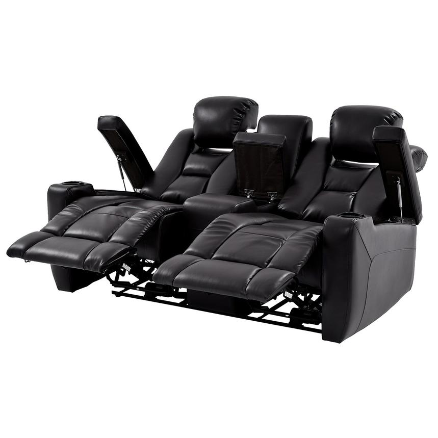 Transformer II Black Power Motion Sofa w/Console  alternate image, 2 of 10 images.