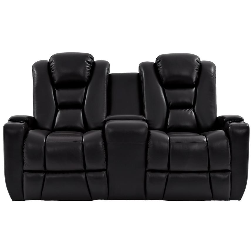 Transformer II Black Power Motion Sofa w/Console  alternate image, 3 of 10 images.