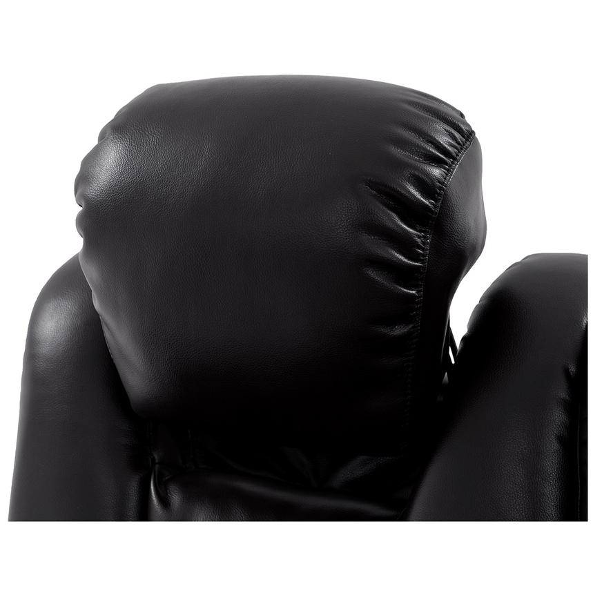 Transformer II Black Power Motion Sofa w/Console  alternate image, 7 of 10 images.