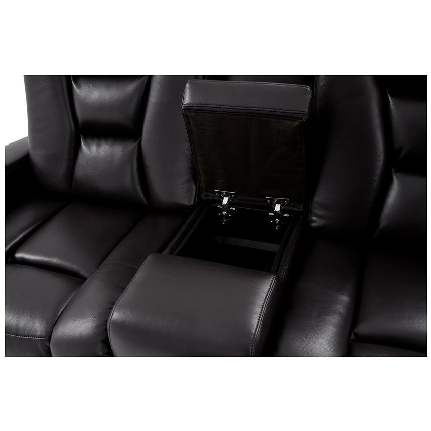 Transformer II Black Power Motion Sofa w/Console  alternate image, 8 of 10 images.
