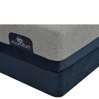 iComfort Blue Max 1000 Cushion Firm Queen Mattress w/Regular Foundation by Serta