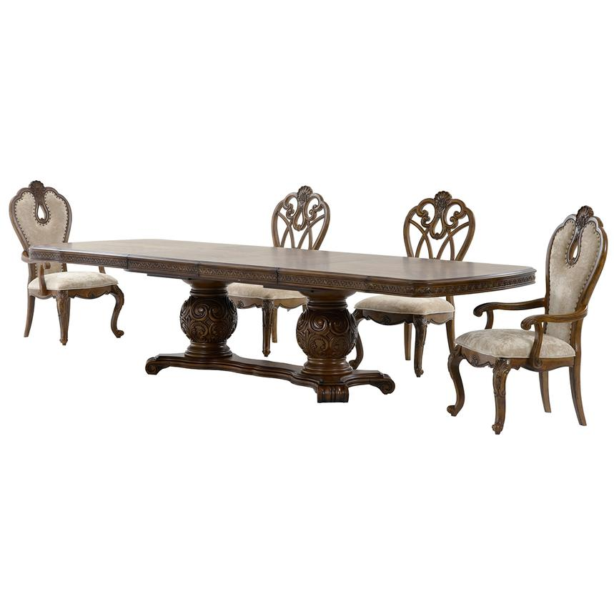 Eden's Paradise 5-Piece Formal Dining Set  alternate image, 3 of 14 images.