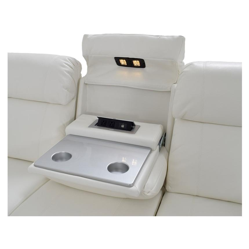 Magnetron White Power Motion Sofa w/Right & Left Recliners  alternate image, 8 of 12 images.