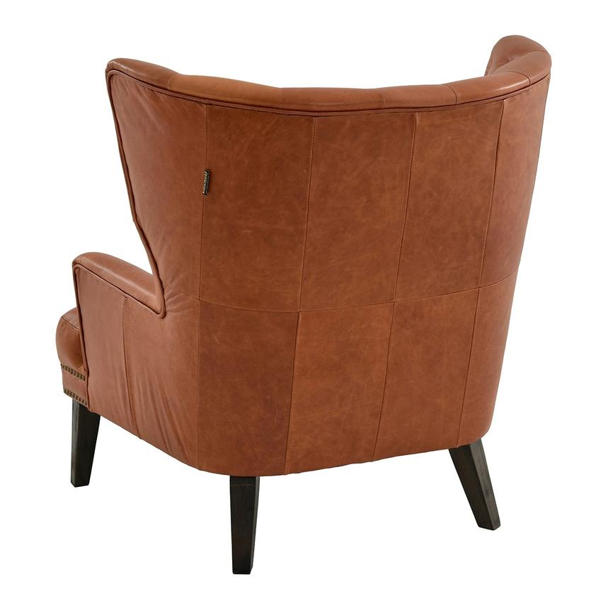 Dante Tan Leather Accent Chair  alternate image, 3 of 7 images.