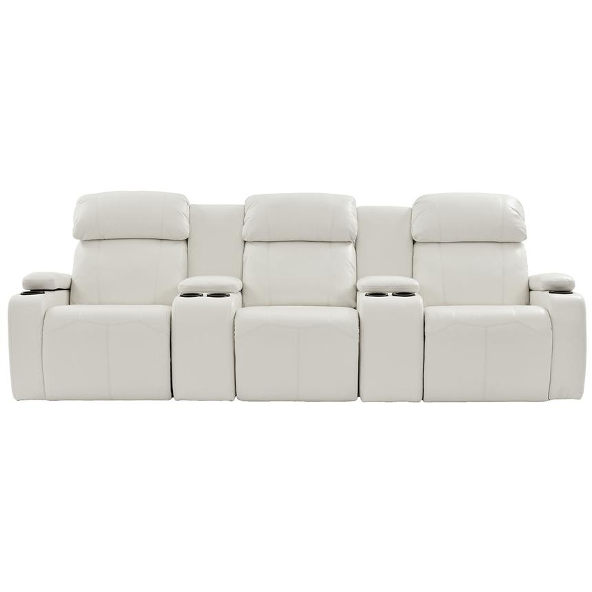 Magnetron White Home Theater Seating  alternate image, 3 of 10 images.