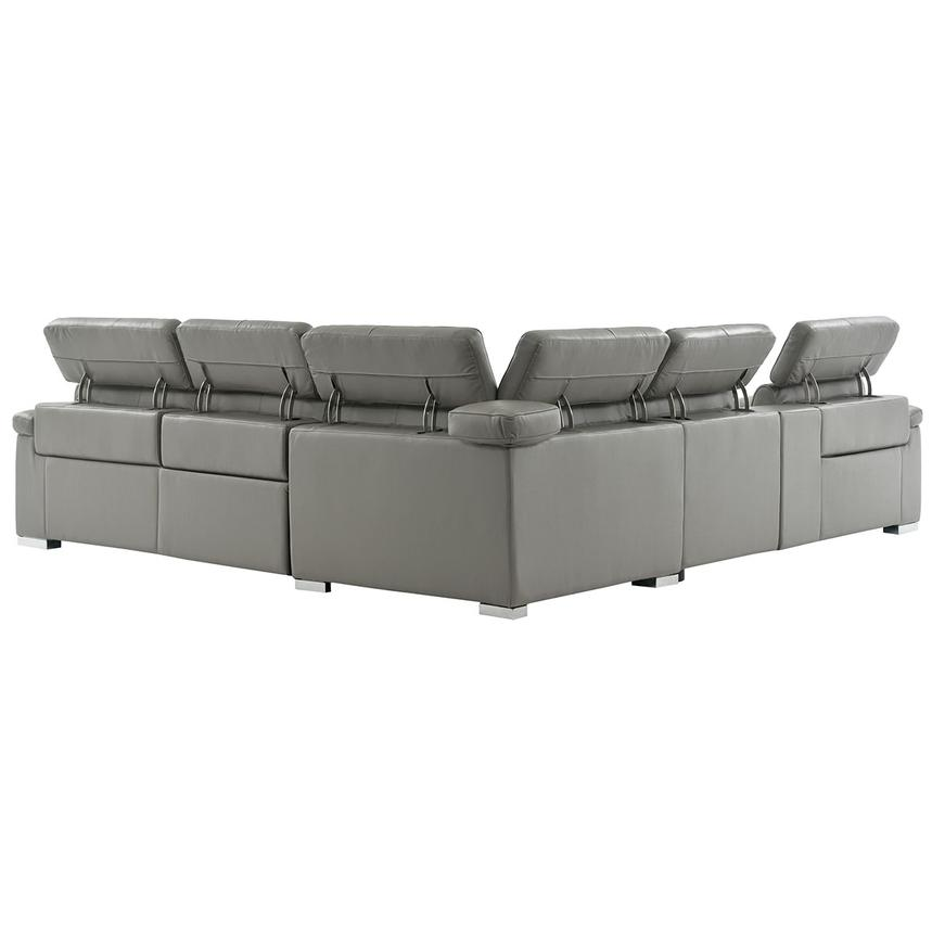 Charlie Gray Leather Power Reclining Sectional  alternate image, 4 of 13 images.