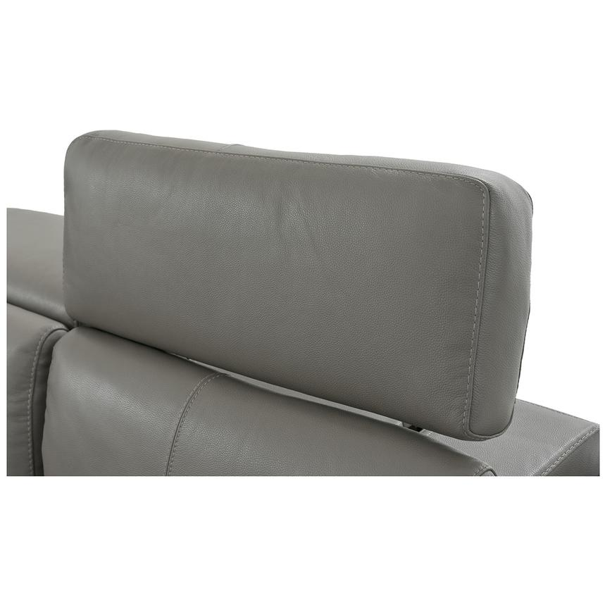 Charlie Gray Leather Power Reclining Sectional  alternate image, 9 of 13 images.