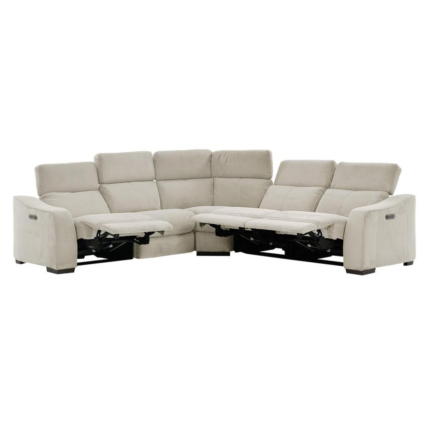 Jameson White Power Reclining Sectional  alternate image, 2 of 9 images.