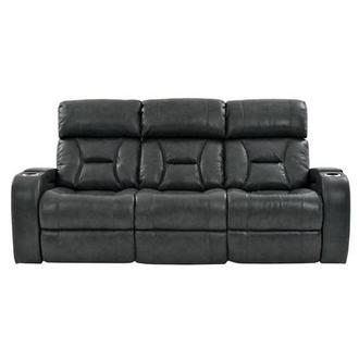 Gio Gray Leather Power Reclining Sofa