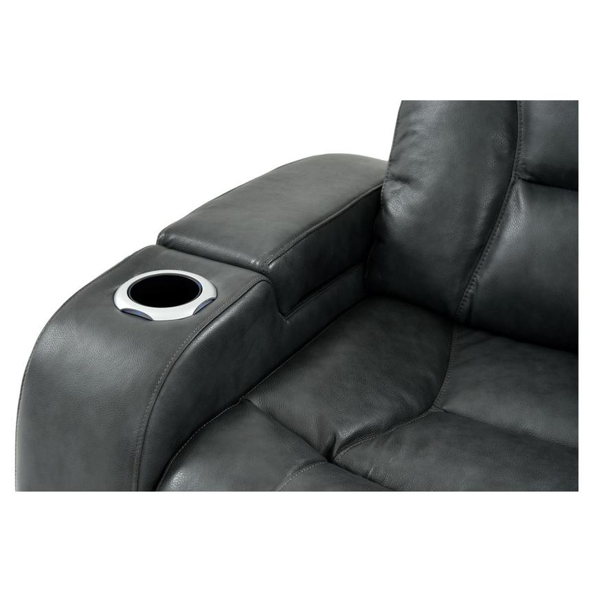 Gio Gray Leather Power Reclining Sofa  alternate image, 7 of 13 images.