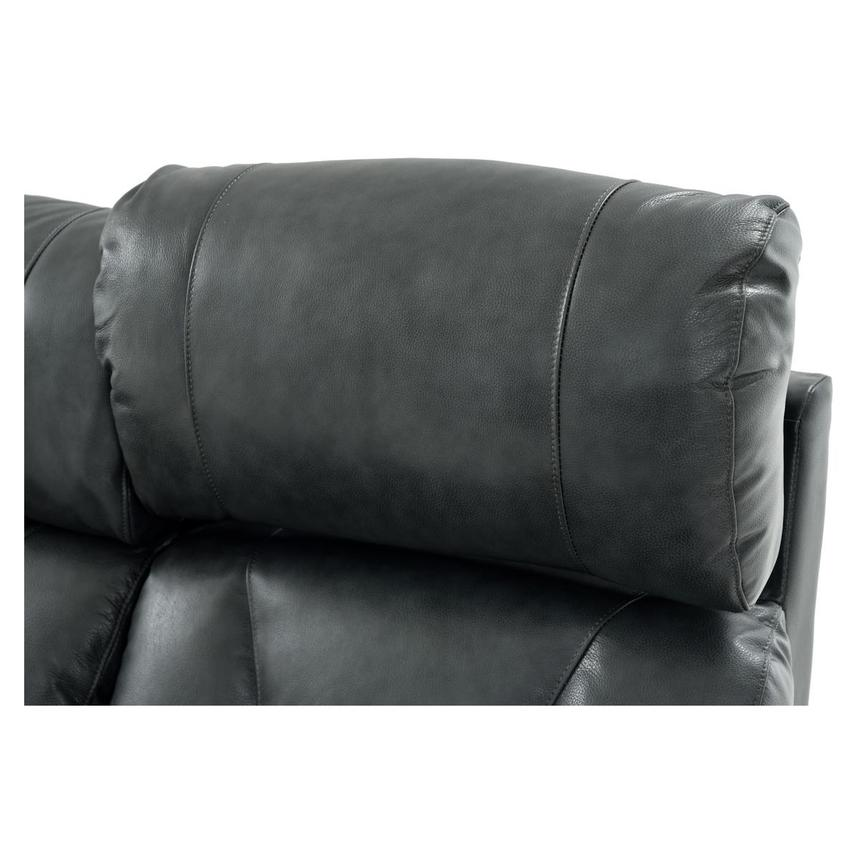 Gio Gray Leather Power Reclining Sofa  alternate image, 12 of 13 images.