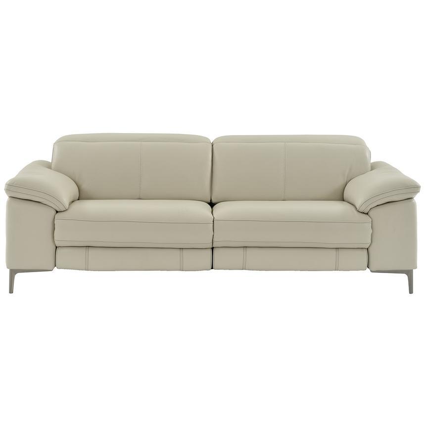Tron Gray Power Motion Leather Sofa El Dorado Furniture