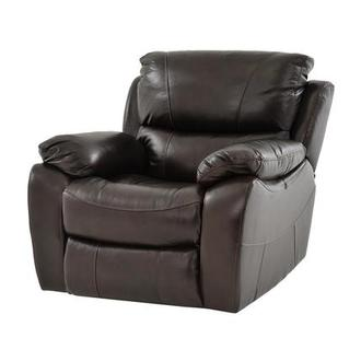 Mack Brown Power Motion Leather Recliner