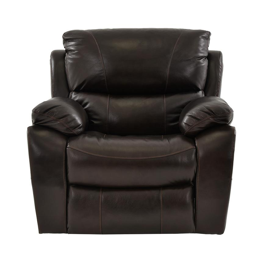 Mack Brown Power Motion Leather Recliner  alternate image, 3 of 5 images.