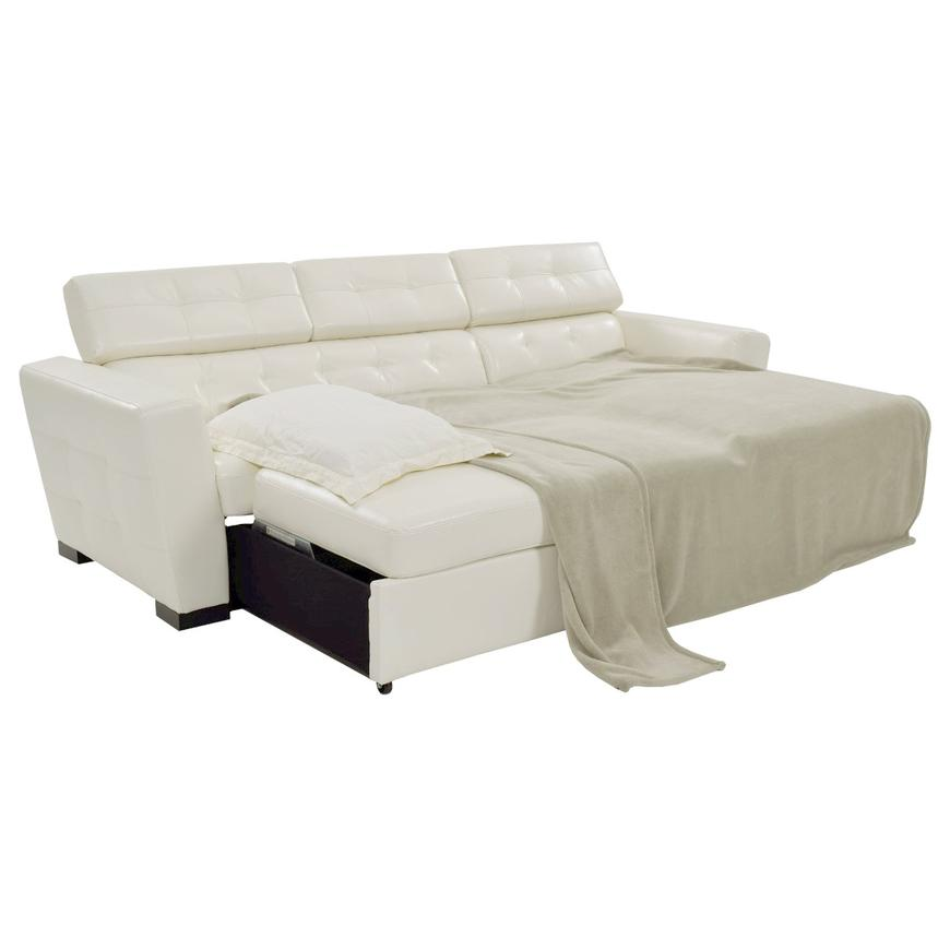 Reeve White Sleeper w/Right Chaise  alternate image, 2 of 8 images.