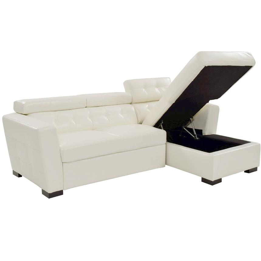 Reeve White Sleeper w/Right Chaise  alternate image, 3 of 8 images.