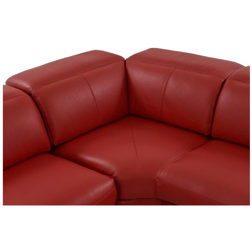Toronto Red Leather Power Reclining Sofa w/Right Chaise  alternate image, 6 of 13 images.