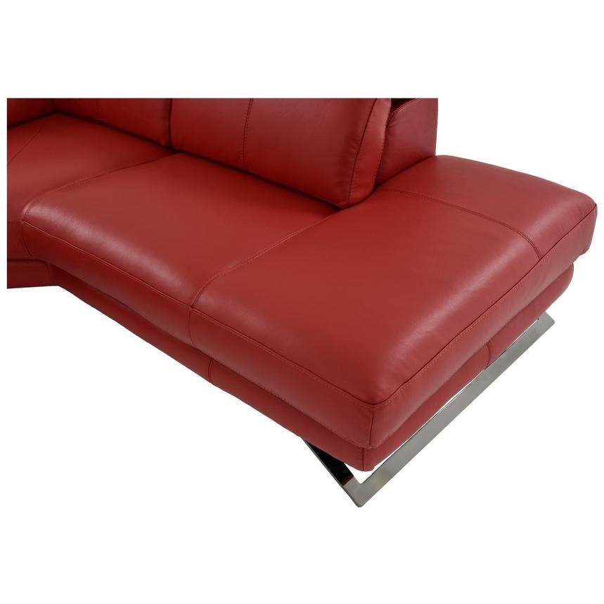 Toronto Red Leather Power Reclining Sofa w/Right Chaise  alternate image, 11 of 13 images.