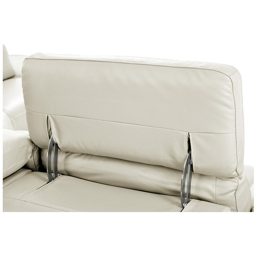 Toronto White Power Motion Leather Sofa w/Right Chaise  alternate image, 8 of 11 images.