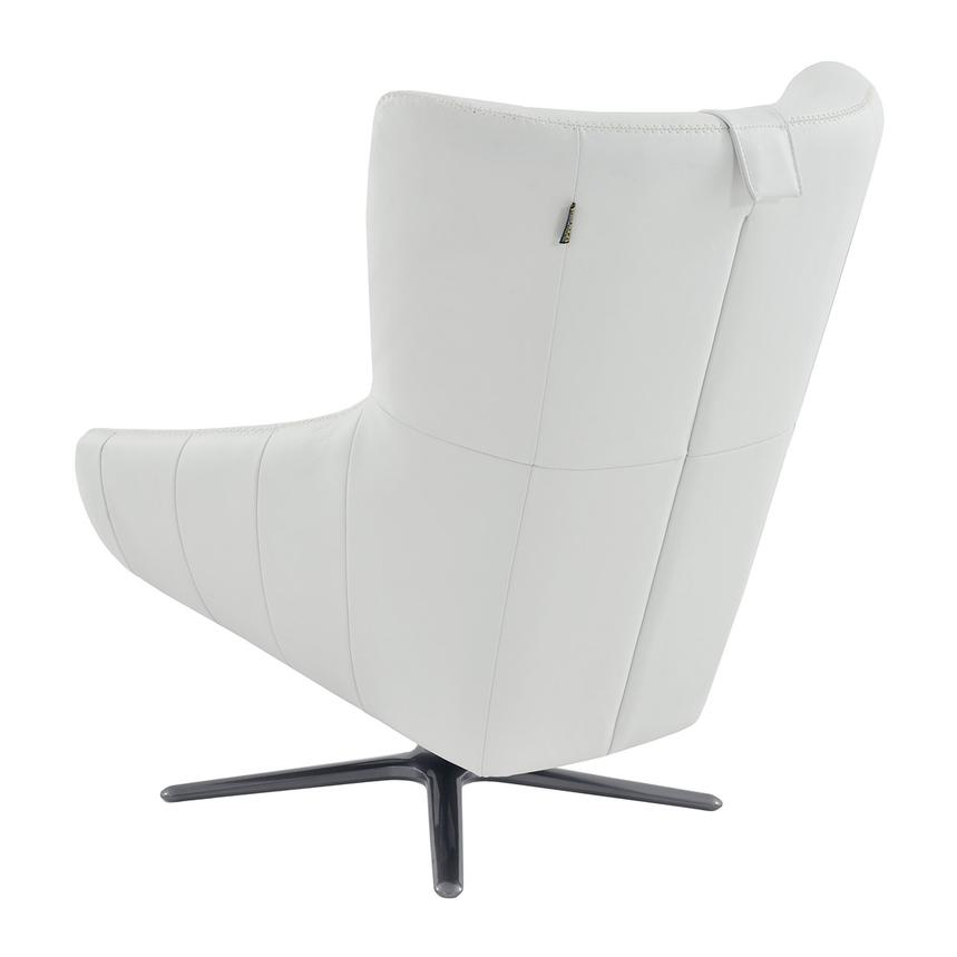 Clara White Leather Swivel Chair  alternate image, 3 of 5 images.