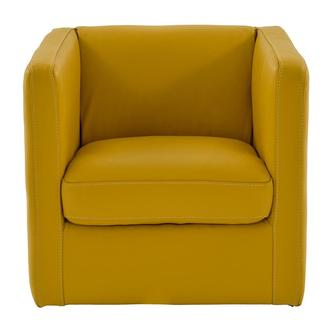 Cute Yellow Leather Swivel Chair