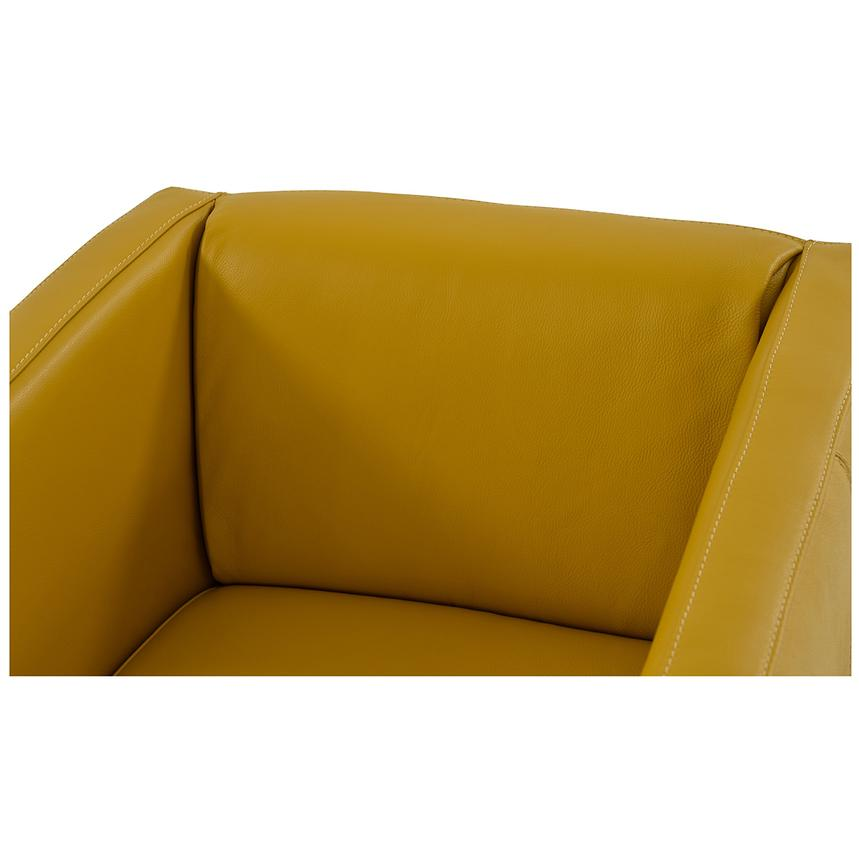 Cute Yellow Leather Swivel Chair  alternate image, 4 of 6 images.