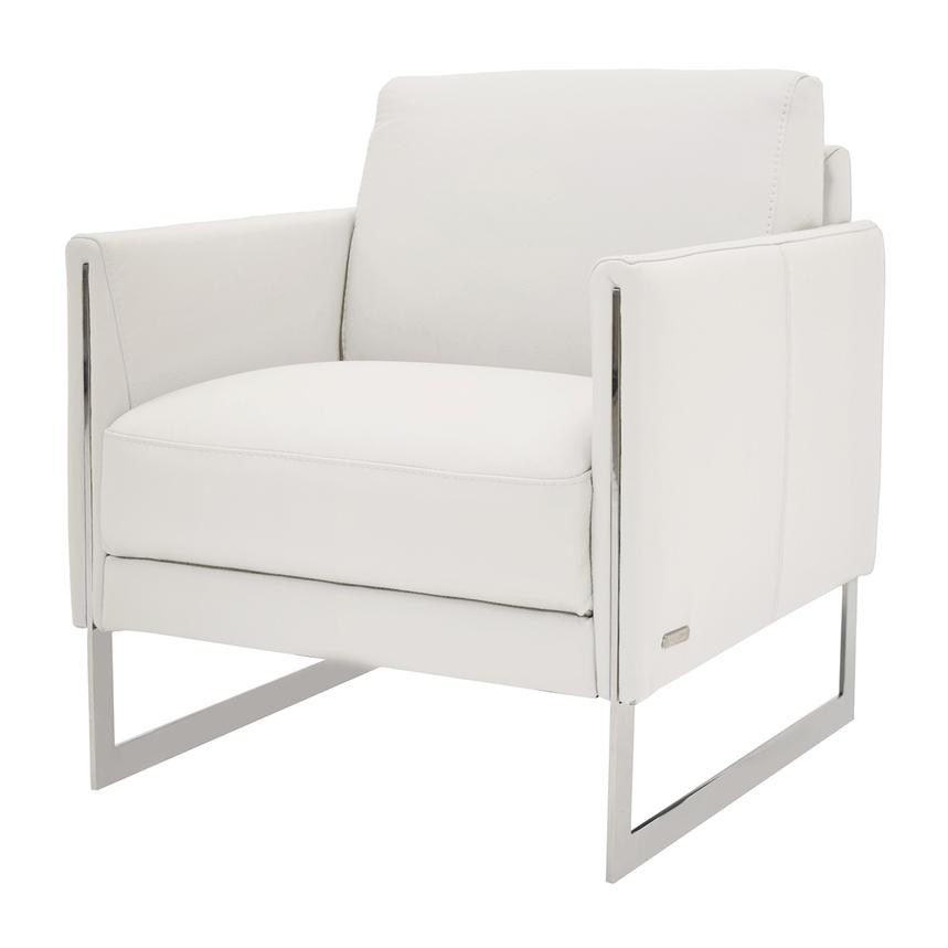 Brilliant Coco White Leather Accent Chair Ibusinesslaw Wood Chair Design Ideas Ibusinesslaworg