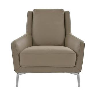 Puella Brown Leather Accent Chair