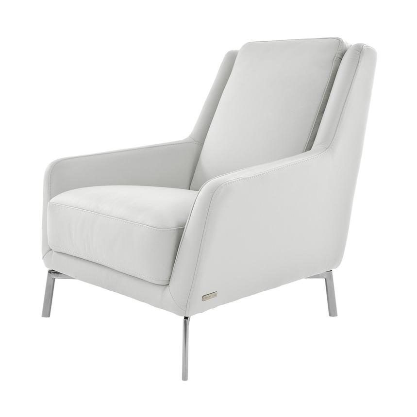 Puella White Leather Accent Chair  alternate image, 2 of 6 images.
