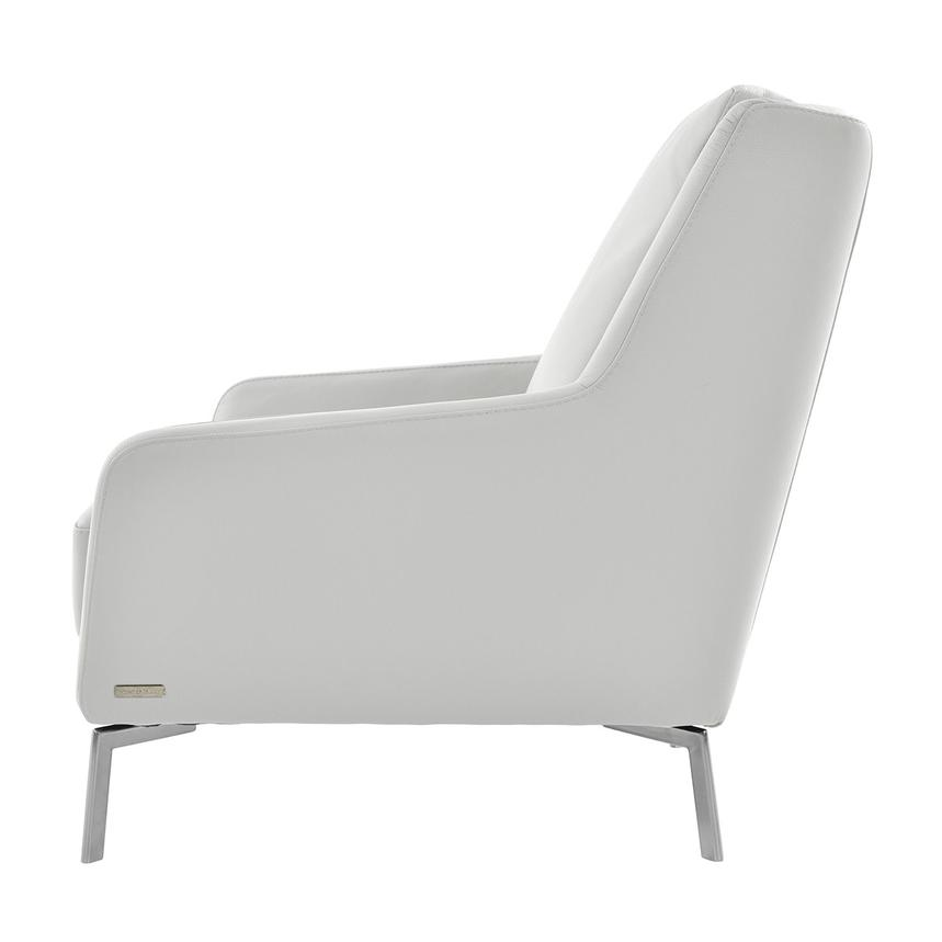 Puella White Leather Accent Chair  alternate image, 3 of 6 images.