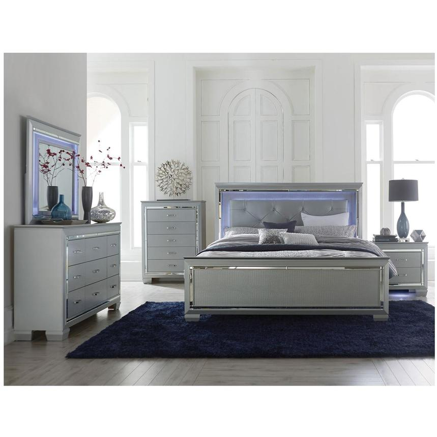 Isabel Gray 4 Piece King Bedroom Set