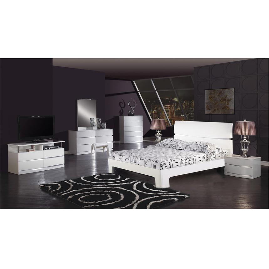 Brighton White 4-Piece Queen Bedroom Set  alternate image, 2 of 6 images.