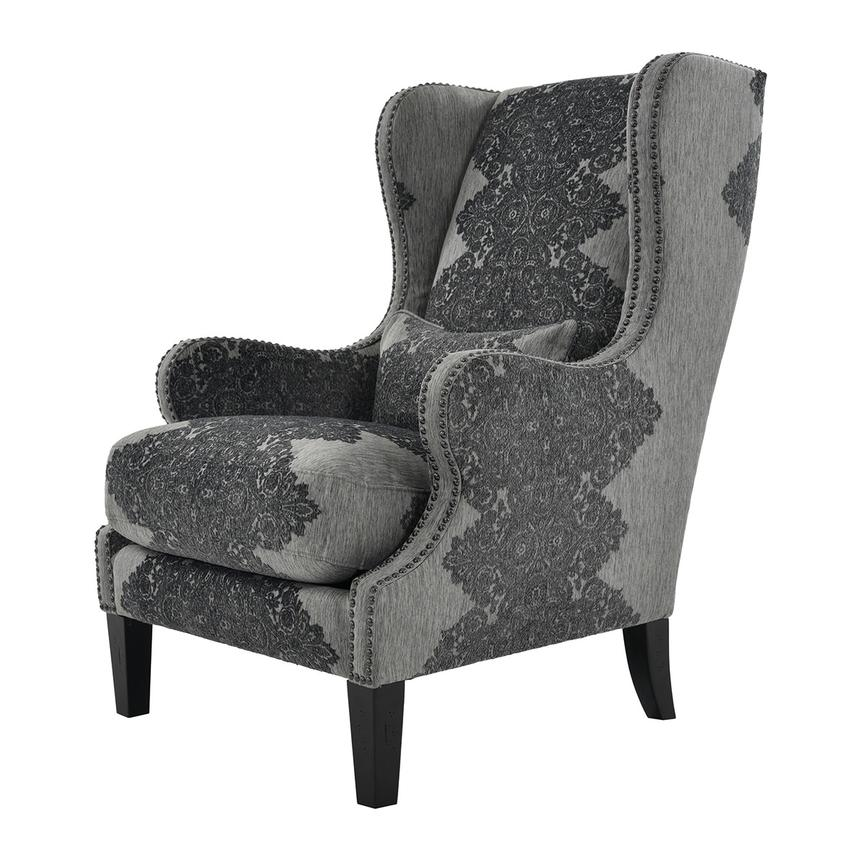 Sophia Black Accent Chair  alternate image, 3 of 7 images.