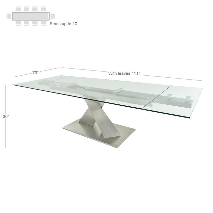 Knox Extendable Dining Table  alternate image, 4 of 7 images.