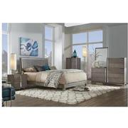Venezia Gray Full Platform Bed Made in Brazil  alternate image, 2 of 5 images.