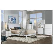 Venezia White Queen Platform Bed Made in Brazil  alternate image, 2 of 5 images.