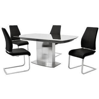 Mavis/Maday Black 5-Piece Dining Set
