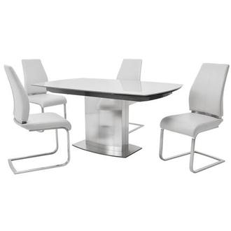 Mavis/Maday White 5-Piece Dining Set
