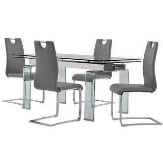 Millie/Josseline Gray 5-Piece Dining Set