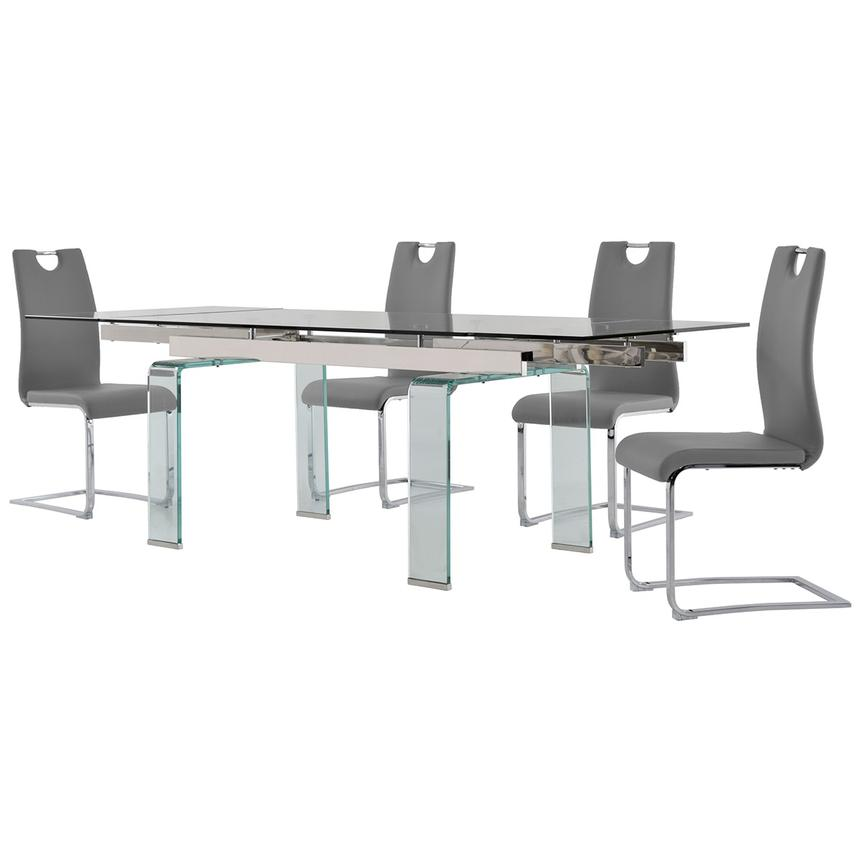 Millie/Josseline Gray 5-Piece Formal Dining Set  alternate image, 2 of 12 images.
