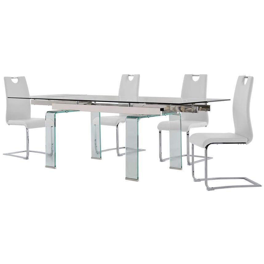 Millie/Josseline White 5-Piece Formal Dining Set  alternate image, 2 of 12 images.
