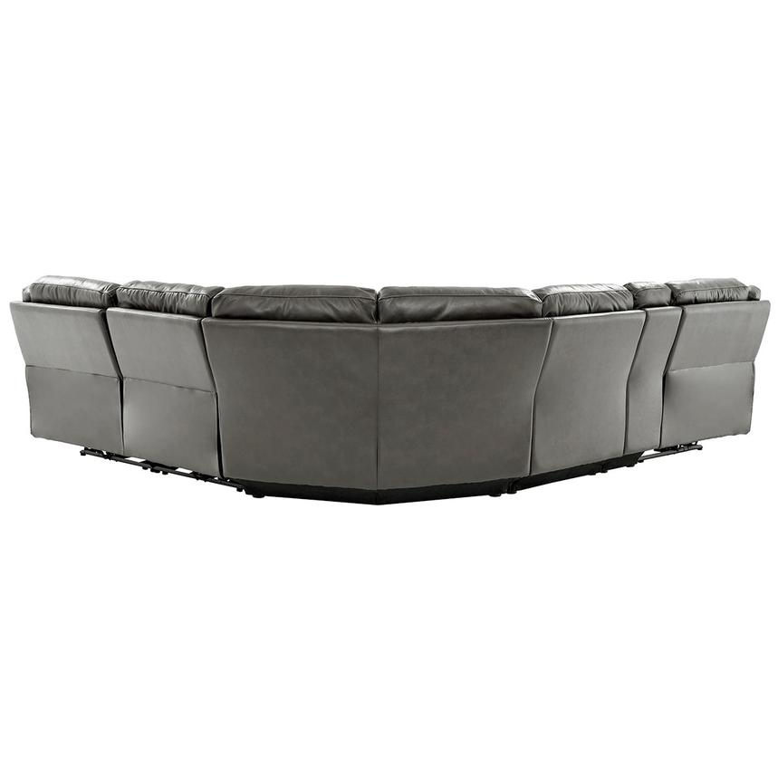 Stallion Gray Power Motion Leather Sofa w/Right & Left Recliners  alternate image, 3 of 10 images.