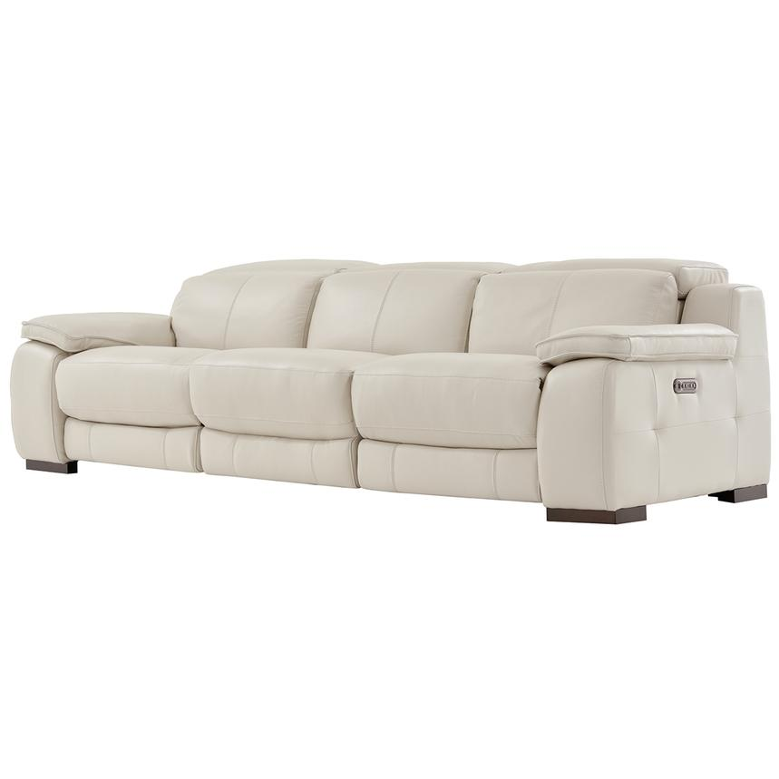 Gian Marco Cream Oversized Leather Sofa  alternate image, 2 of 6 images.