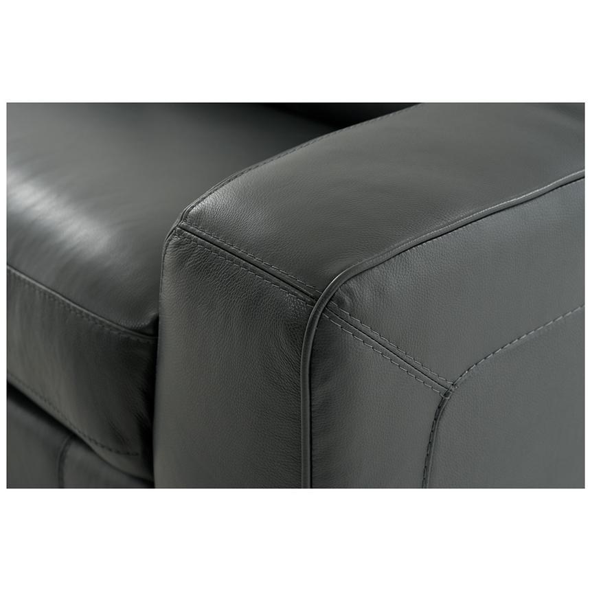 Jay Dark Gray Leather Power Reclining Sectional  alternate image, 7 of 8 images.