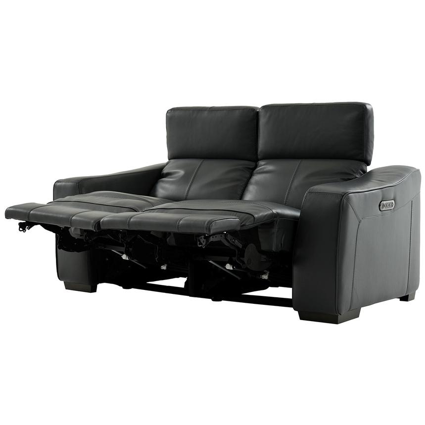Jay Dark Gray Power Motion Leather Loveseat  alternate image, 3 of 7 images.