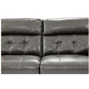 Stallion Gray Leather Power Reclining Loveseat  alternate image, 6 of 10 images.