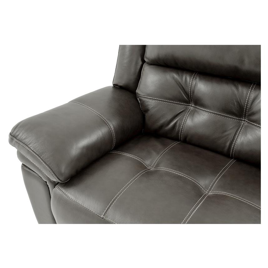 Stallion Gray Leather Power Recliner  alternate image, 7 of 8 images.