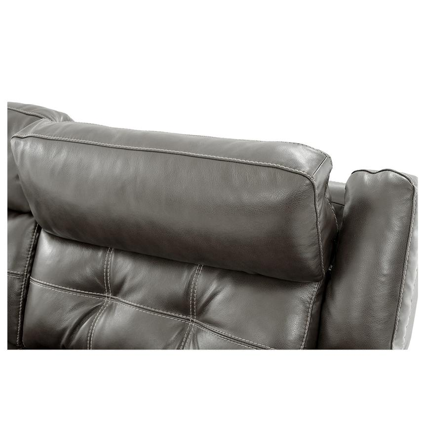 Stallion Gray Leather Power Reclining Sofa  alternate image, 8 of 10 images.