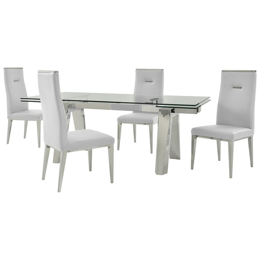 Madox/Hyde I White 5-Piece Dining Set  main image, 1 of 13 images.